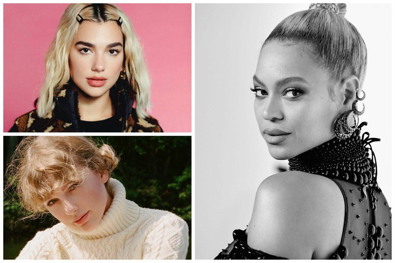 Grammys 2021: Beyonce, Dua Lipa y Taylor Swift entre las más nominadas!