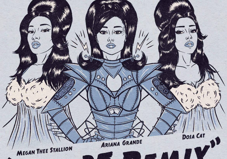 Ariana Grande, Doja Cat y Megan Thee Stallion se reúnen en Remix de «34+35»